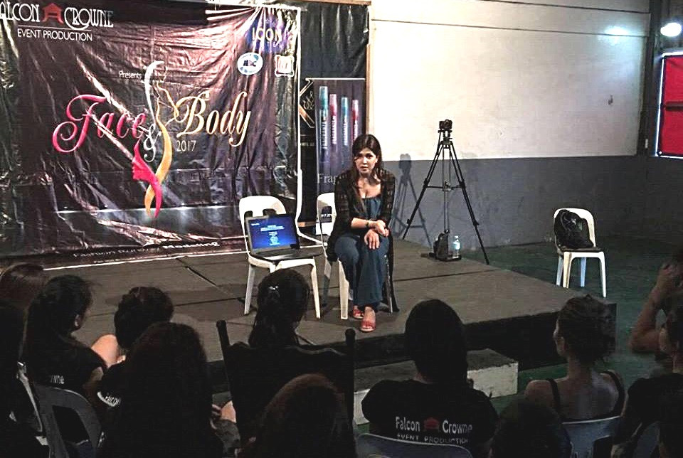 Marilou Tolico Villanueva (Mrs Universe Loyal 2017) Face and Body 2017 Beauty pageant as guest speaker