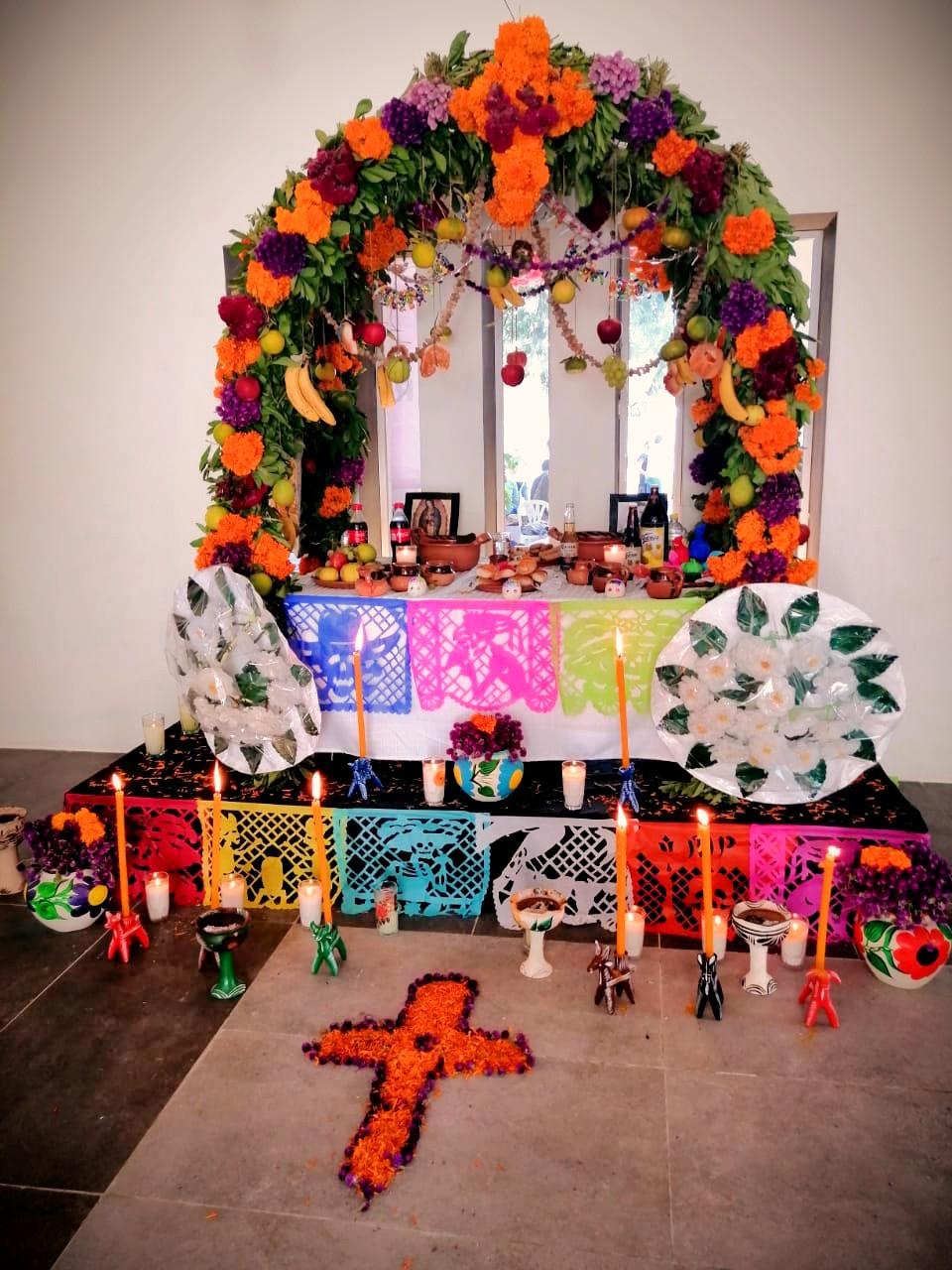 """Typical Xantolo ofrenda at Tempoal, Veracruz Mexico, epicenter of the Huastecas festivity of """"Todos Santos"""" - All Saints -"""