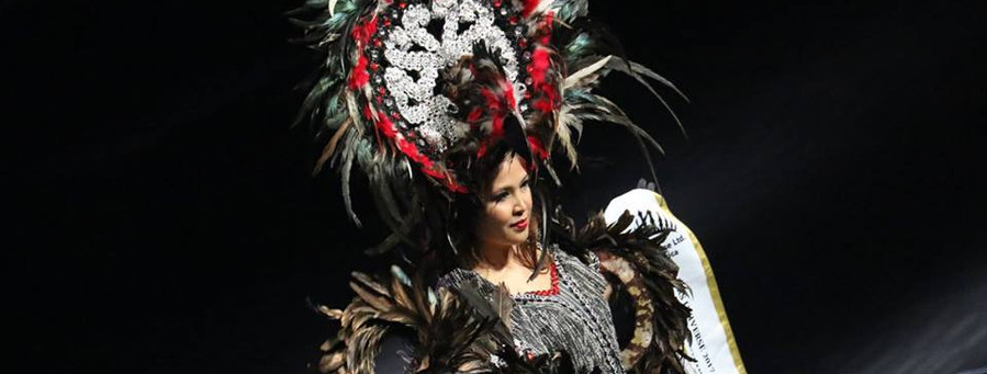 Mrs Universe 2017, National Costume  gown designed by Edwin Rosas Visda