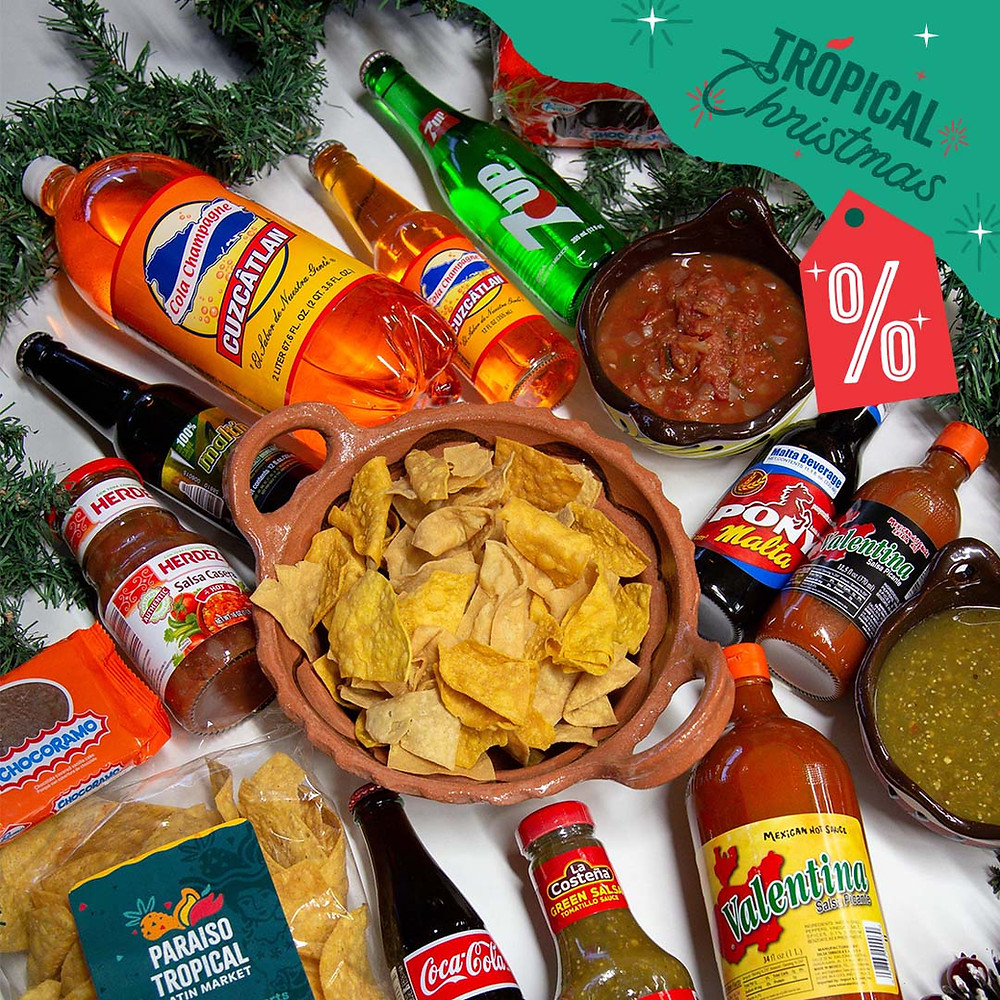 Tropical Christmas movie munchies on special throughout December at Paraiso Latin Food Market.