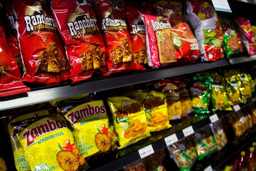 Paraiso Tropical Latin Market sells a variety of Latin American chips.