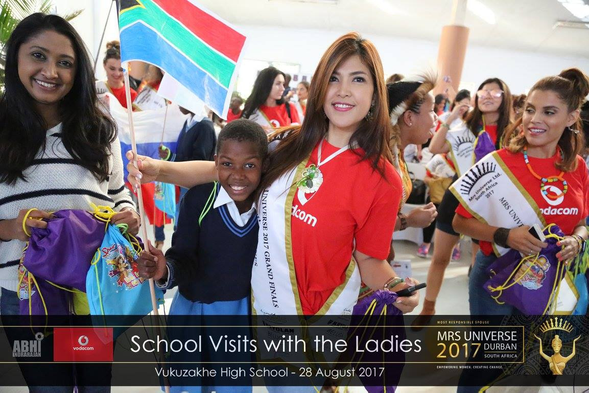 Mrs Universe Visits Schools on South Africa