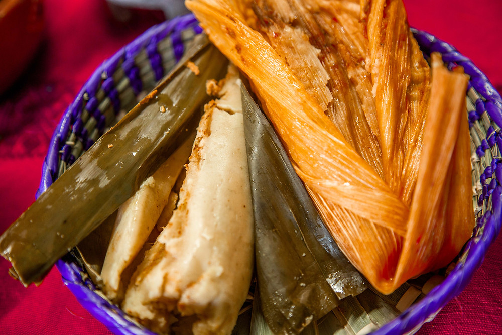 Salvadoran and Mexican tamales from Paraiso Tropical's kitchen.