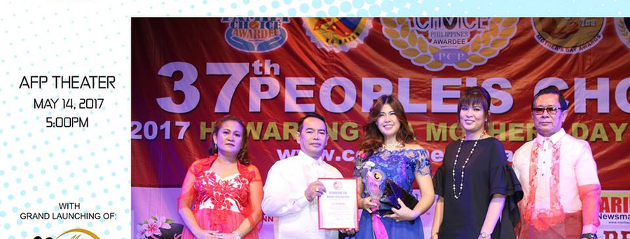 Mrs. Marilou Tolico Villanueva,  was awarded in the 37th People's Choice & Best Brand Awards Huwarang Ina, Outstanding Mother of the Year.