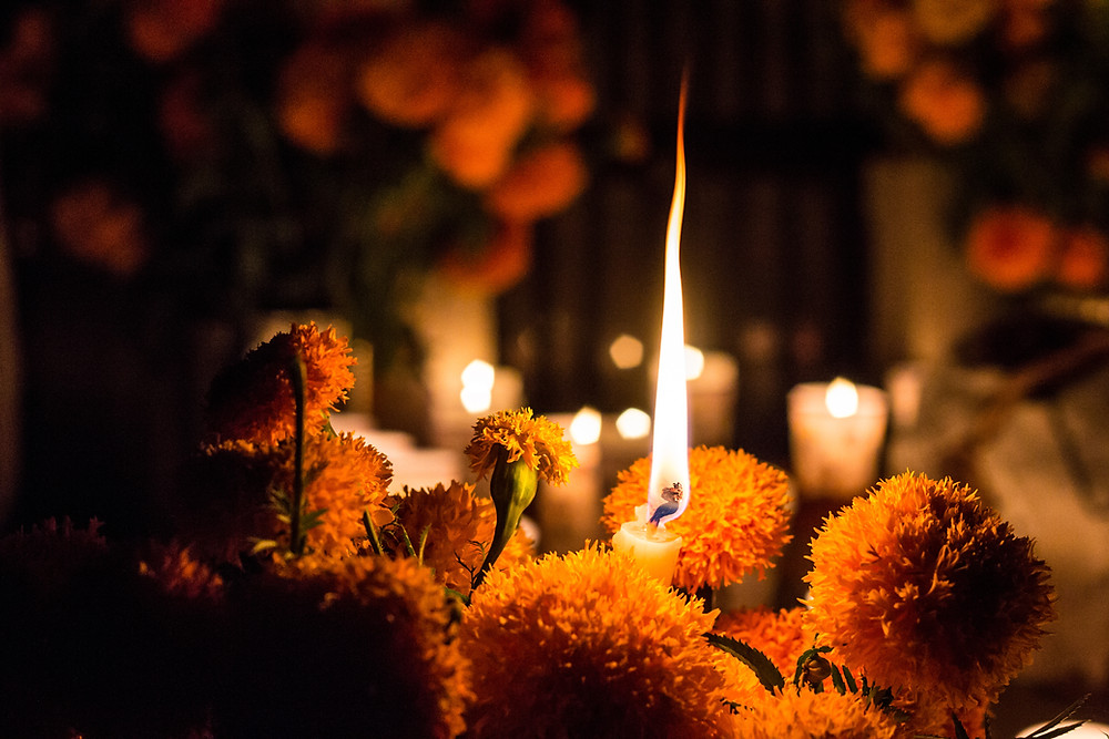 In the Day of the Dead's ofrenda (offering) – as the altar is called – the souls returning will not get lost on their way back home since families offer guidance through candles.