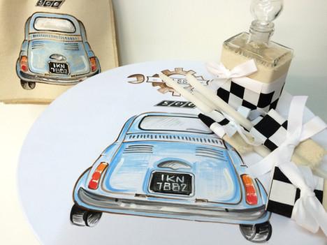 Fiat 500 γαλάζιο