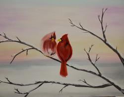 Winter Red Birds