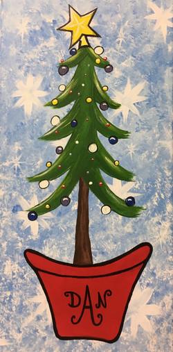Monogram Christmas Tree