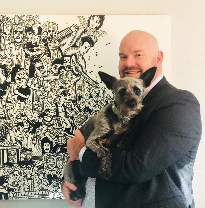 Chadwick V. R. Williams Realtor with Shangela his four-legged furry assistant (aka. boss)