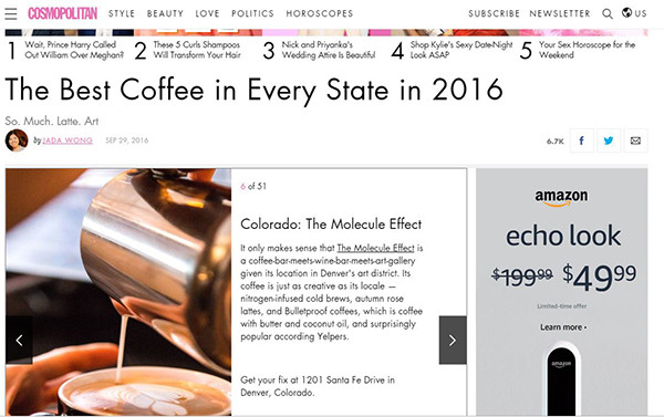 Cosmopolitan: The Best Coffee in Every State