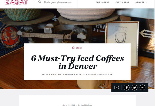 Zagat: 6 Must-Try Iced Coffees in Denver