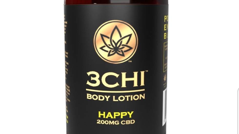 3CHI Happy CBD Body Lotion - 200mg CBD 8oz