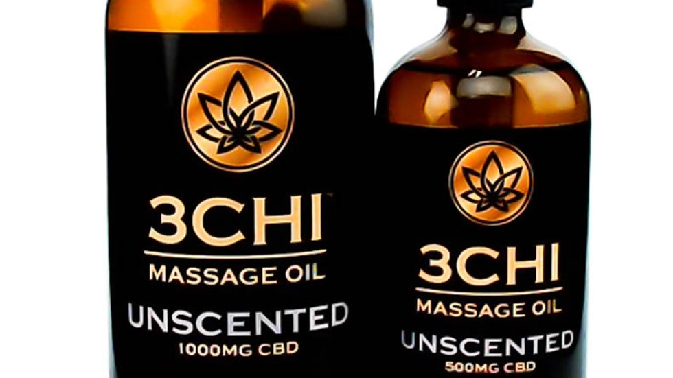 3CHI Massage Oil -Unscented 500mg CBD 8oz