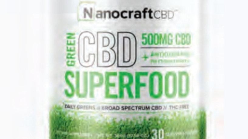 Nanocraft Superfood Green Powder 500mg CBD