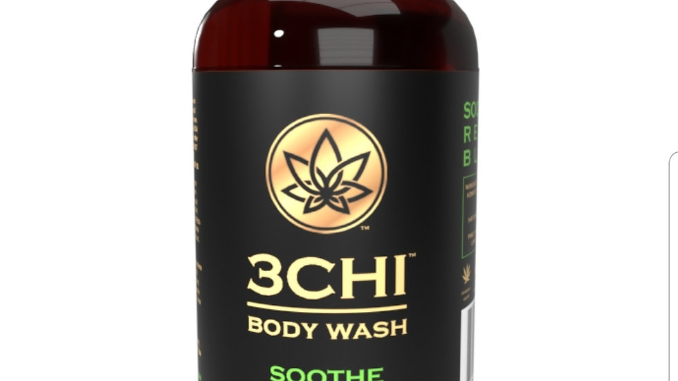3CHI Soothe CBD Body Wash -8oz 50mg CBD