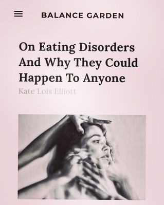 Balance Garden: Eating Disorders and Why The Could Happen to Anyone