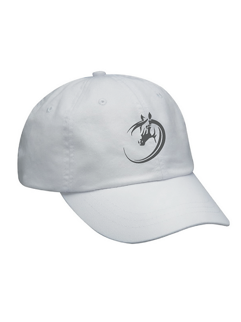 Ohio Equestrian Ball Cap - White 100% Cotton