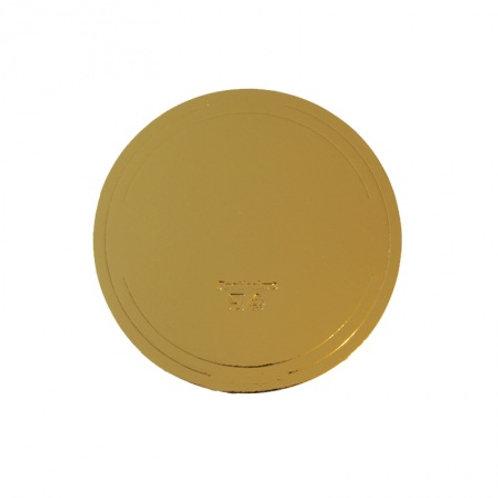Подложка усиленная(3,2 мм) золото/жемчуг D 380 мм