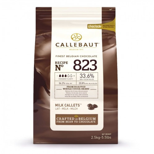 Молочный шоколад 33,6%, 2,5 кг, Callebaut