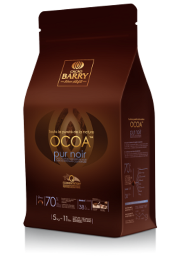 Горький шоколад OCOA 70.4%, 1 кг, Cacao Barry