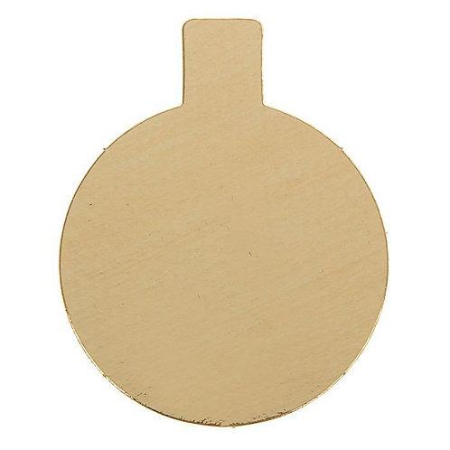 Подложка (0,8 мм) золото с держателем, Круг, 10 шт.