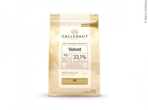 Белый шоколад 33,1% VELVET, 2,5 кг, Callebaut
