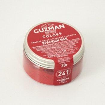 Краситель жирорастворимый красный мак, 20 гр, Guzman