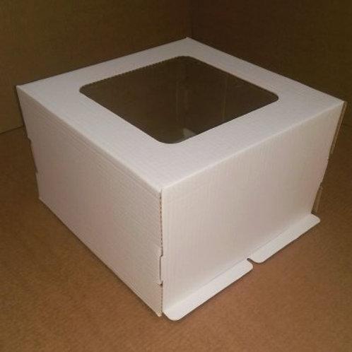 Коробка для торта с окном 300x300x130
