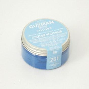 Краситель жирорастворимый голубой небесный, 20 гр, Guzman