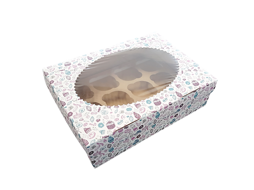 Коробка с печатью на 6 капкейков