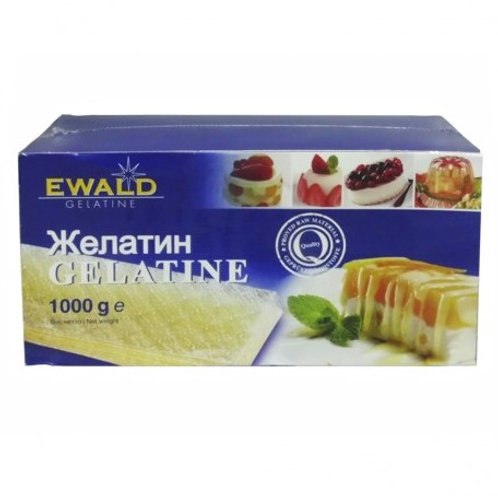 Желатин листовой пищевой Ewald, 1кг - 200 листов