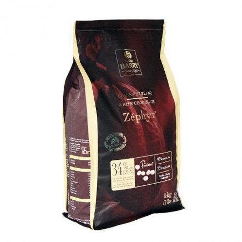 Белый шоколад 34% ZEPHYR, 5 кг, Cacao Barry