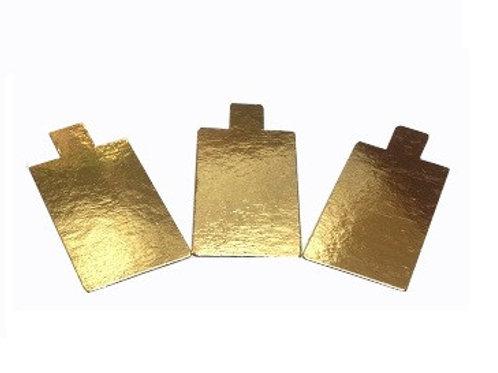 Подложка (0,8 мм) золото с держателем, Прямоугольник, 10 шт.