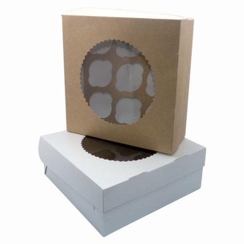 Коробка с окном на 9 маффин