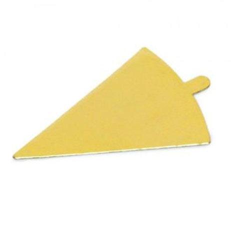 Подложка (0,8 мм) золото с держателем, Треугольник, 10 шт.