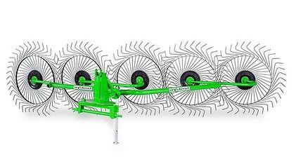 Грабли-ворошилки пяти колесные