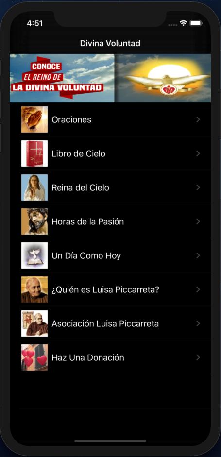 Instala el app de Divina Voluntad para iPhone (iOS13)