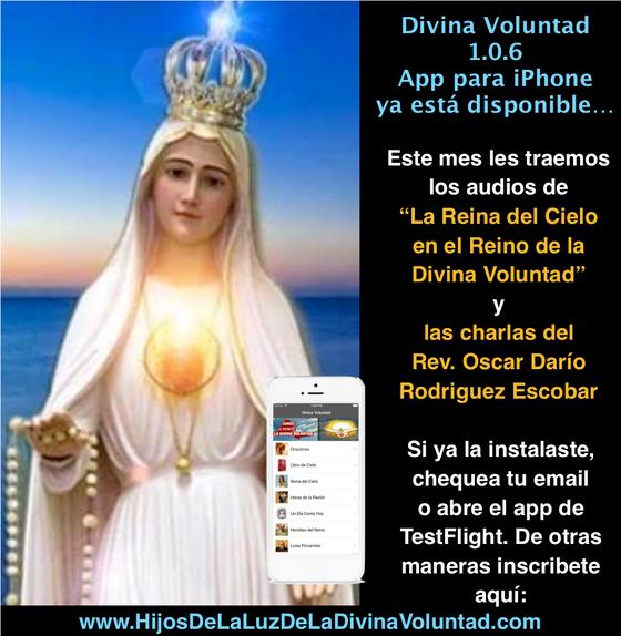 """Actualiza tu """"Divina Voluntad"""" para iPhone"""