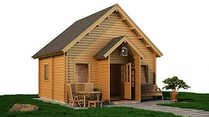 ARKLOW LOG CABIN SIZE 5.43M X 4.4M TWO FLOORS & ONE BEDROOM