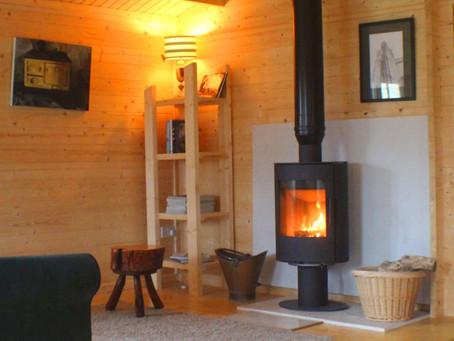 Heating a Log Cabin