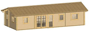 SPIDDAL COSY LOG CABIN SIZE 12M X 5.1M TWO BEDROOM