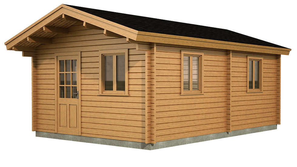Down One Bedroom Log Cabin Size 4M x 6M