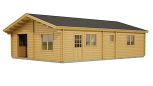 CARRICK LOG CABIN SIZE 7M X 10M TWO BEDROOM