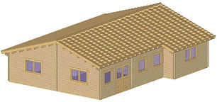 YOUGHAL LOG CABIN SIZE 13M X 9.1M LARGE TWO BEDROOM