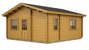 WEXFORD ONE BEDROOM LOG CABIN SIZE 5.7M X 5.7M