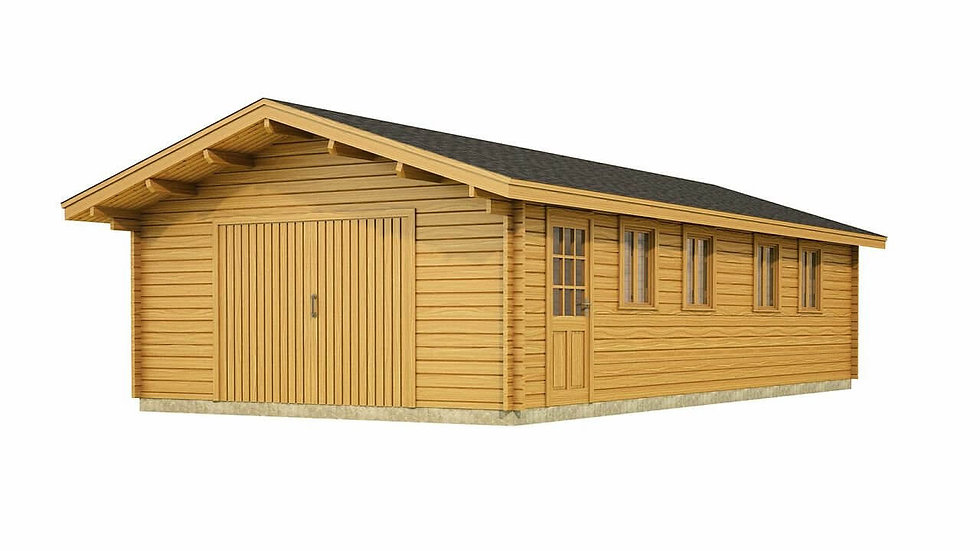 Doonbeg Garage by Timber Living  that comes in different sizes which is made from quality wood
