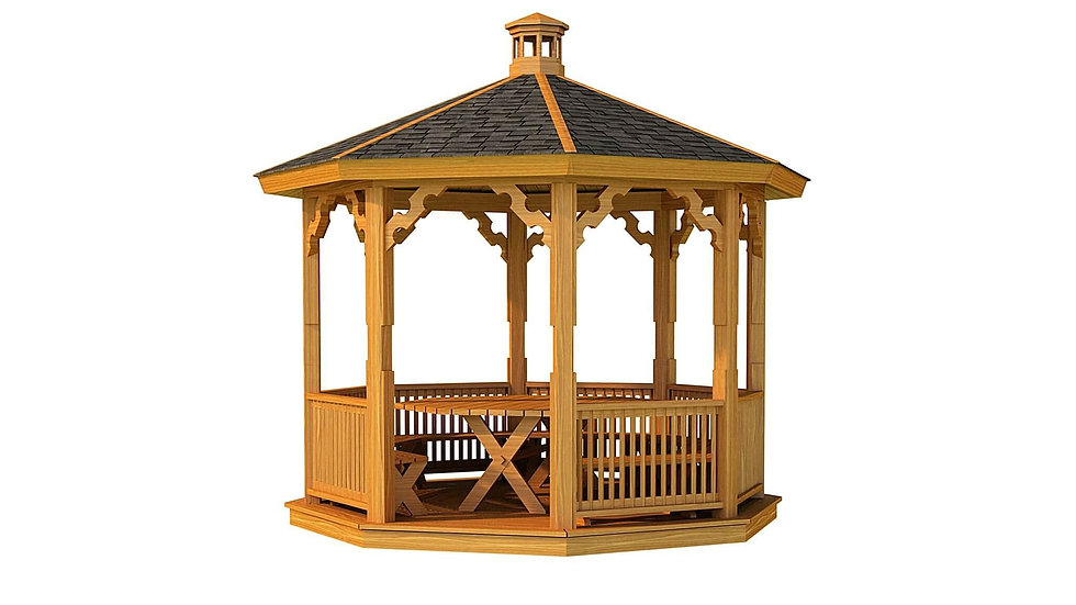 Tullow Wooden Gazebo by Timber Living  that is perfect for the background to chill and relax