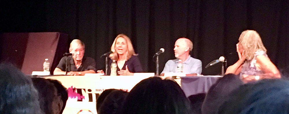 Journalists Richard North Patterson, Melinda Henneberger, Bob Drogin, and Charlayne Hunter-Gault (l to r) Islanders Write