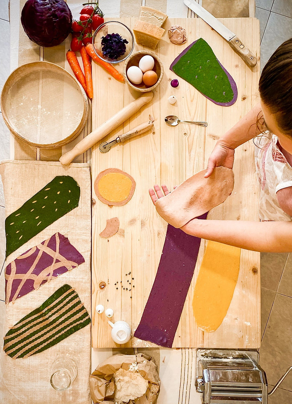 Make Colorful Healthy Pasta online experience from Airbnb