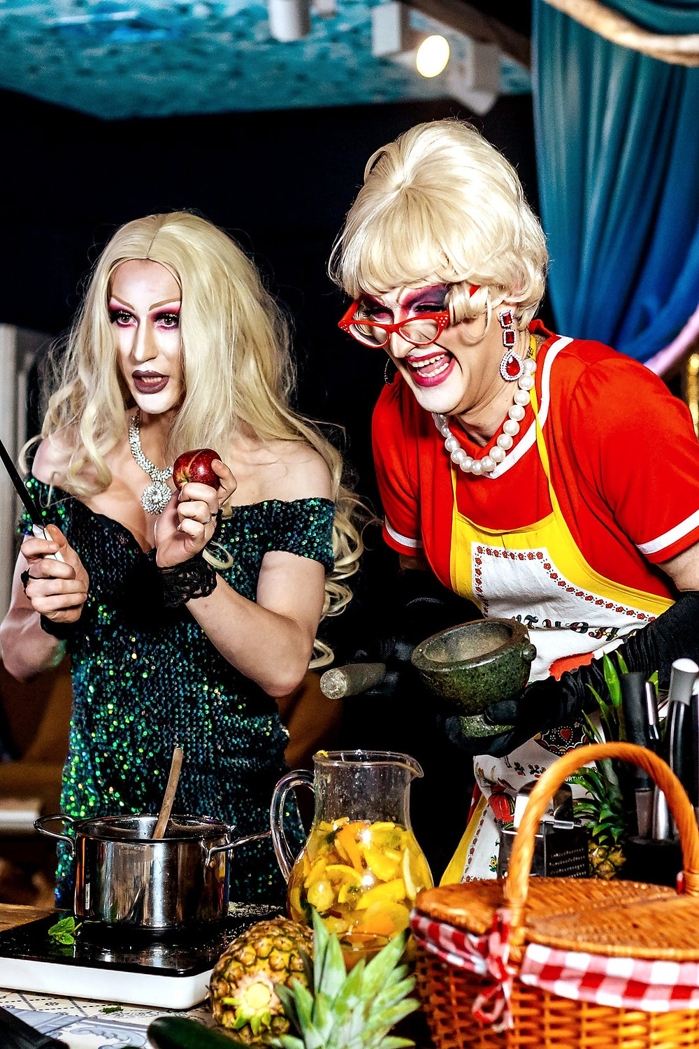 Sangria and Secrets with Drag Queens online experience from Airbnb